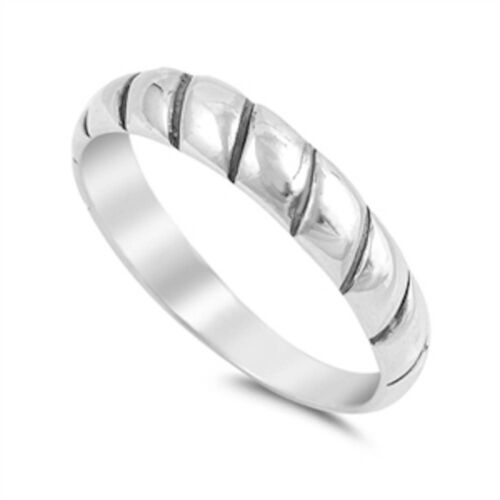 Plain Band .925 Sterling Silver Ring Sizes 4-10