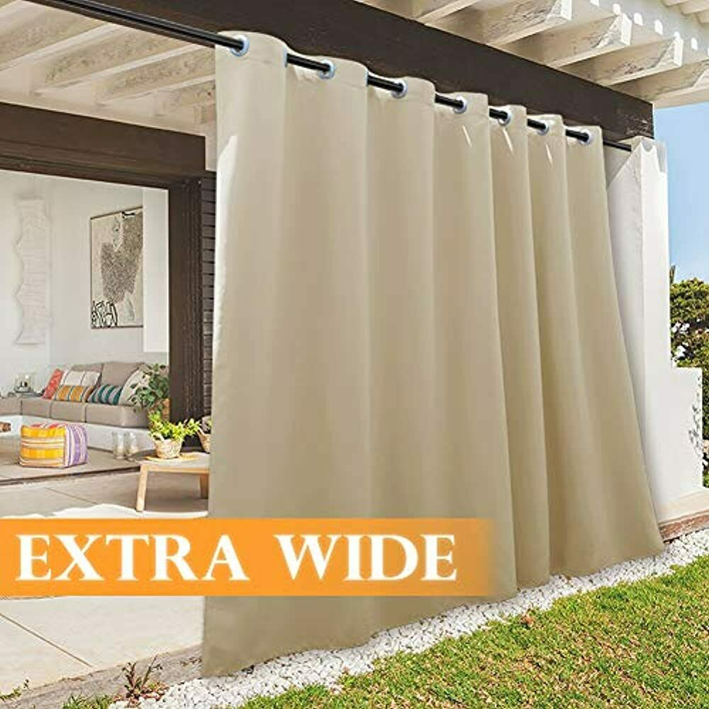 Large Outdoor Curtain Panels Rustic Patio Curtains Withstand Weather Summer Heat For Sale Online