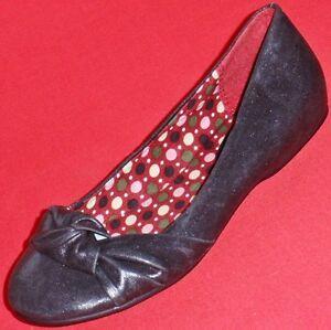 new women's candies ginnetti black flats slip on fashion