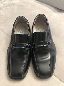 Florsheim-Kids-Dress-Shoes-Loafers-Black-Size-11-M-Worn-Once
