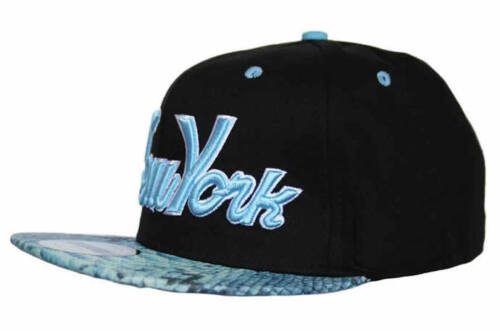 NY New York snapback peau de serpent Flat Peak Cap Snap Arrière Peau De Serpent Baseball Hat