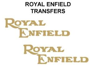 Royal-Enfield-Tank-Transfers-Decals-Motorcycle-Gold-Sold-as-a-Pair-DROY1