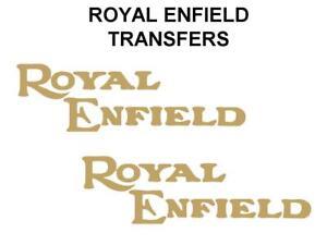 Royal-Enfield-Tanque-transferencias-calcomanias-de-motocicleta-de-oro-se-vende-como-un-par-DROY-1