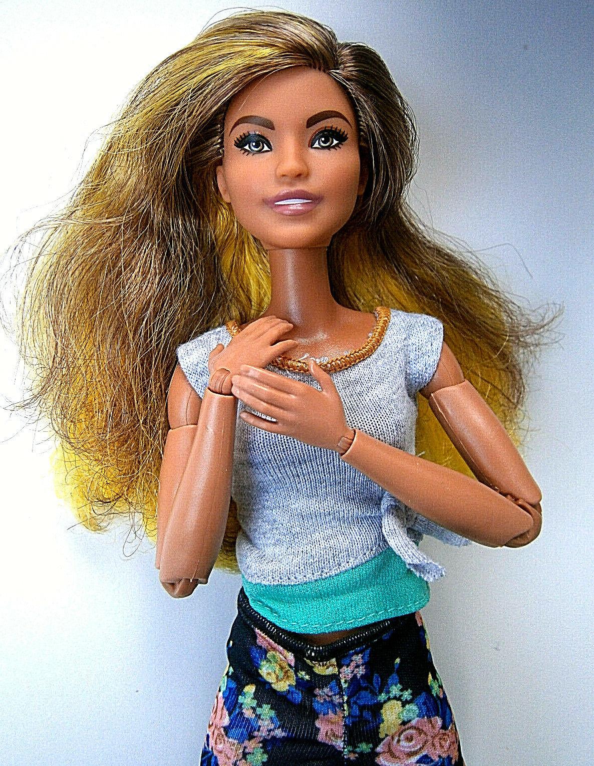 Barbie mattel made to move fashionistas nº Hybrid Doll a. konvult colección