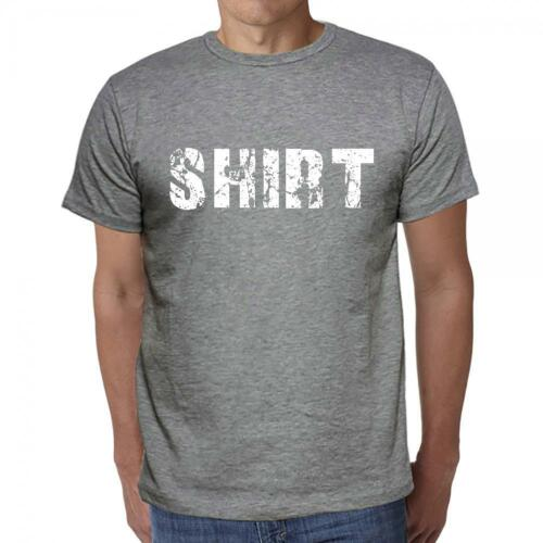shirt Tshirt Col Rond Homme T-shirt Gris Coton Homme Tshirt