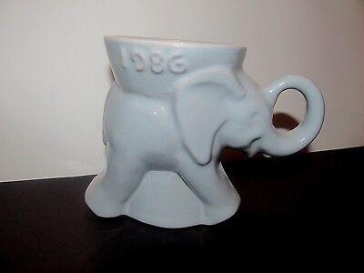 1986 Frankoma Elephant Mug GOP Republican Party Political Collectible