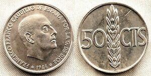 Spain-Franco-50-centimos-1966-19-70-Madrid-SC-UNC-procedente-de-tira-FNMT