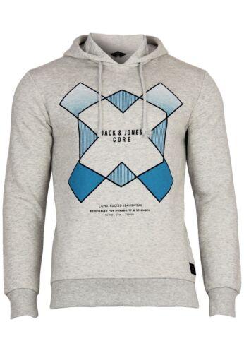 Jack /& Jones Herren Sweatshirt JJconew Grad Hood Langarm Print Kapuzen Pullover