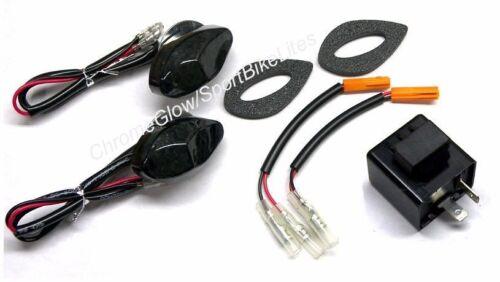 Honda Grom MSX125 Front LED Turn Signal Kit w// LED Flasher Relay Smoked Lens