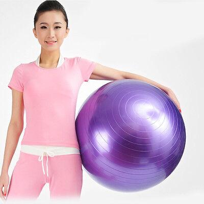 "New Balance Yoga Fitness 85cm Gym Exercise 33"" Inflatable Ball w/ Air Pump"