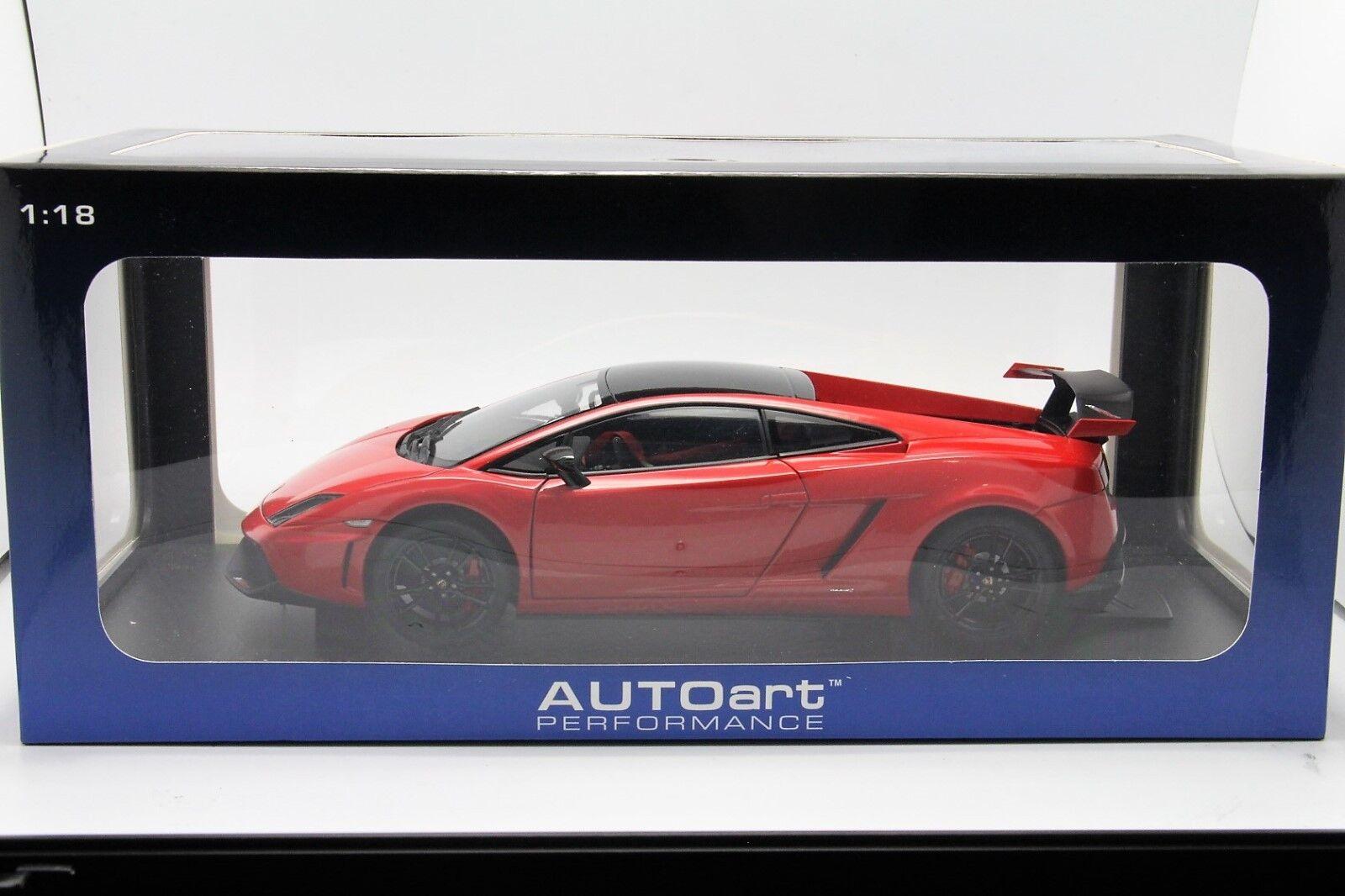1  18 bilkonst Lamborghini LP570 Super Trofeo Stradale röd New fri Shipping   MR