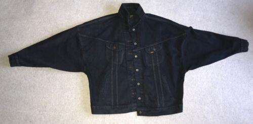 Black Lee Jacket Oversized Batwing Navy Extra Denim Cooper Large 5FFf1qAT