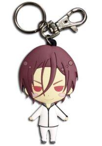 Free-Iwatobi-Swim-Club-Rin-Key-Chain-Keychain-Anime-Manga-Licensed-NEW