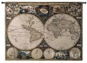 53x38 old world map globe geography tapestry wall hanging ebay image is loading 53x38 old world map globe geography tapestry wall gumiabroncs Images