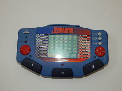1997 Tiger Jeopardy Game & Cartridge Working R18299 Rich And Magnificent Toys & Hobbies