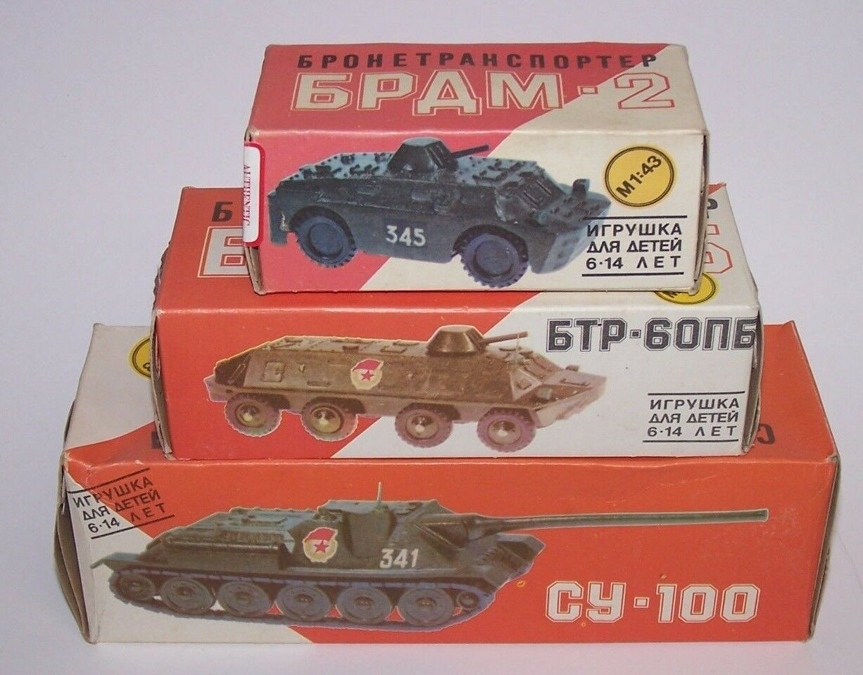 Russian Military Army Tanks (3) Vehicles M1 43 Scale Scale Scale Lot NIB 651888