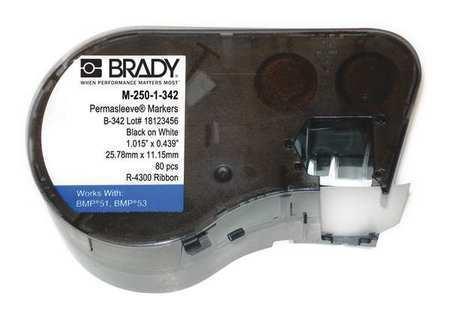 L W,15//64 In BRADY M-250-1-342 Cartridge Label,18//41 In