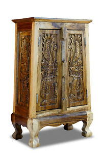 Solid-Wood-Cabinet-Dresser-Dragon-Thailand-Furniture-Asian-Thai-Cabinet-New