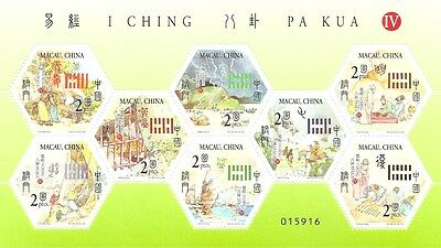 Macao-china-2004-i Ching Pa Kua 8 Stamps Iv-mini Sheet High Quality