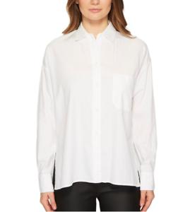 Vince damen Weiß Single Pocket Long Sleeve Blouse Sz S 7456
