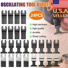 24x Oscillating Multi Tool Saw Blades Wood Metal Cutter Blade For Dewalt Makita