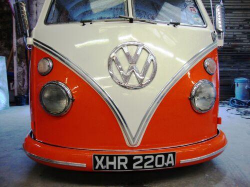 Casquillos de extremo para VW en Pantalla Dividida Deluxe Molduras VW Samba Bus Camper Tipo 2 AAC Set Completo