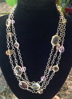 Dana Kellin For Target Multi Color Jewel 3-strand Gold 18 Necklace-$49.99-nwt