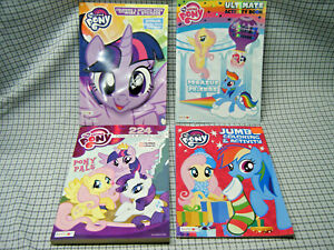 Lot-of-4-My-Little-Pony-Coloring-Activity-Books-Mask-Poster-Stickers-Dash-Pinkie