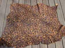 Pigskin suede leather hide skin Tobacco & Black Giraffe Print