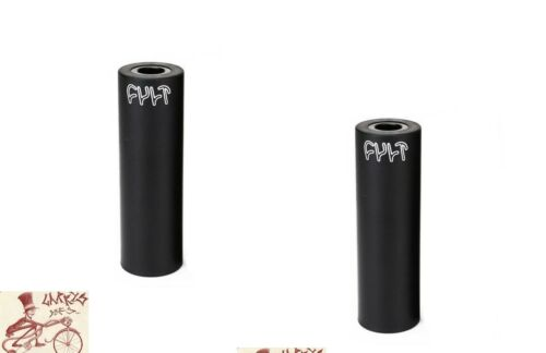 """CULT BIKES BUTTER 4/""""  BLACK 3//8/""""--14MM AXLE BICYCLE PEG--PAIR"""