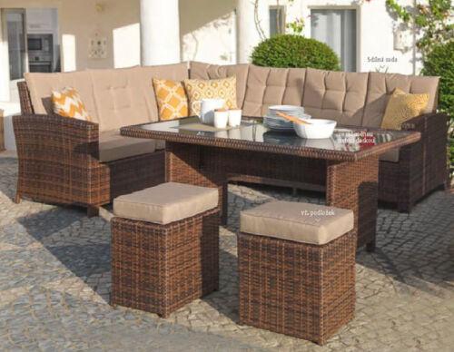 Lujo ecklounge 5 piezas muebles de jardín de ratán jardín Eck sofá ...