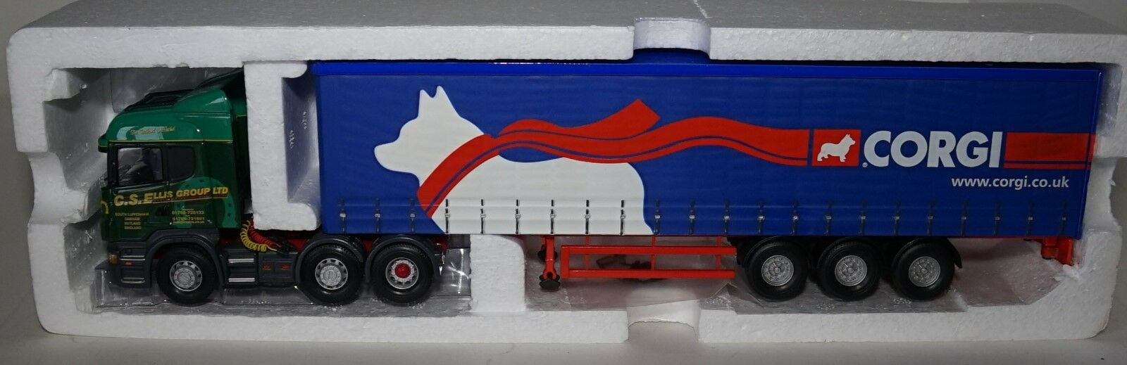 Corgi CC13709 Scania R Serie Curtainside Cs Ellis / Corgi in 1:50 Scale