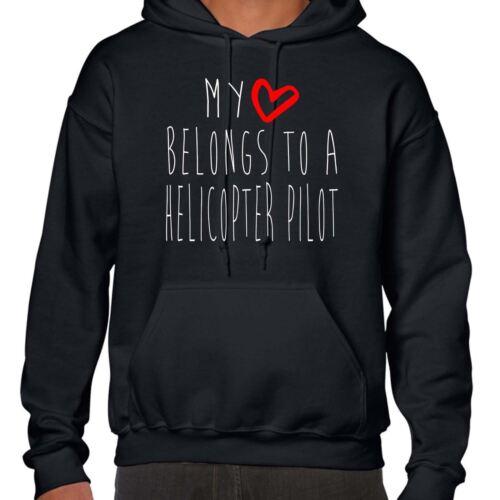 Il mio cuore appartiene a un pilota di elicottero Felpa con Cappuccio