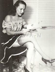 ORIGINAL VINTAGE 1940S-50S Risque Pinup Photo- Slip- Long