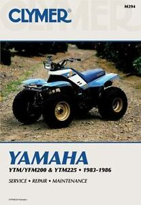 Yamaha-YTM-YFM200-and-YTM225-1983-1986-CLYMER-REPAIR-MANUAL-Book