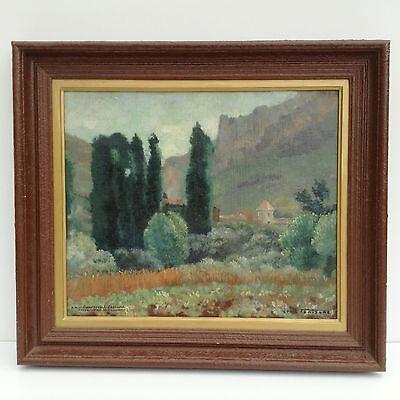 Ausdauernd Le Rozier Frankreich Gemälde Mediterrane Landschaft Maler Ölgemälde Impression