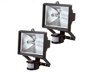 PIR luce d/'illuminazione alogena per ambienti GIARDINO Esterno 150w sensore mov