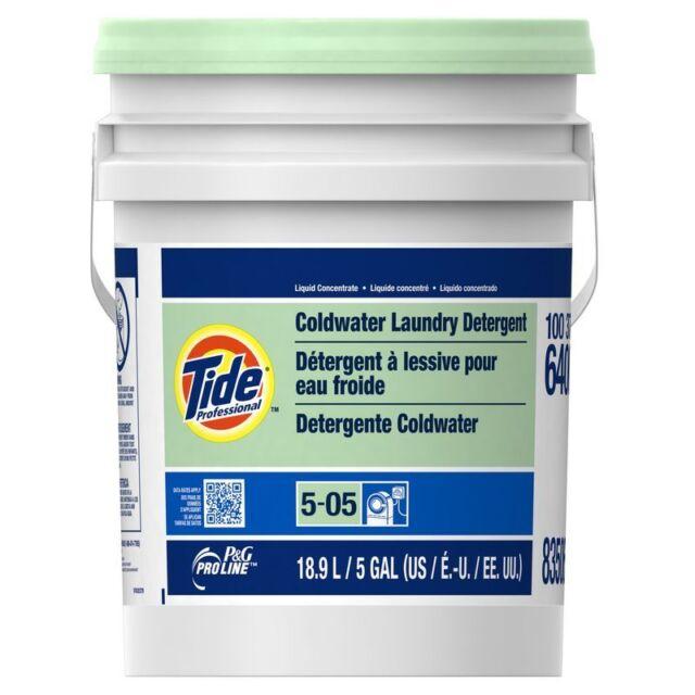 P&G Pro Line Tide Professional Coldwater Laundry Detergent, 5 gal pail