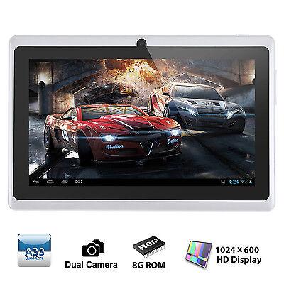 "7"" Tablet PC Quad Core Google Android 4.4 KitKat 8GB Bluetooth WIFI White"