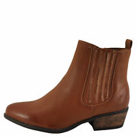 Bamboo Sadie 01 Chestnut Bnh Women's Slip On Ankle Booties