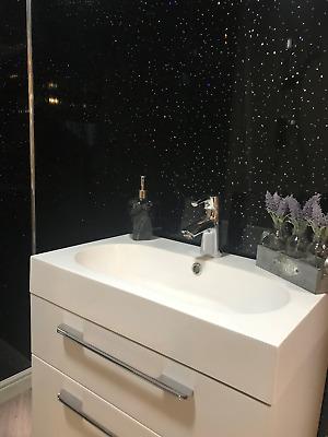 Black Sparkle 8mm Bathroom Cladding Pvc