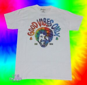 bfb4d28c0e2 New Bob Ross Good Vibes Only Tie Dye Men s PBS Joy of Painting ...