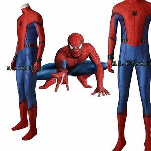 Spider-Man Homecoming Superhero Cosplay Costume Spider man Cos Zentai Jumpsuits