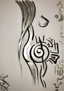 Margarita Bonke Malerei PAINTING art Bild erotica erotika akt abstract Silver Nu