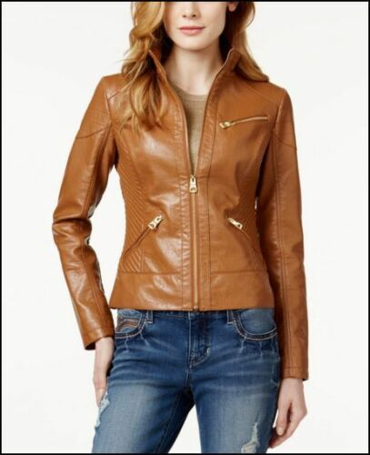 donna bomber Nwot Guess ecopelle S in Giubbotto Los da marrone Angeles tPdtn