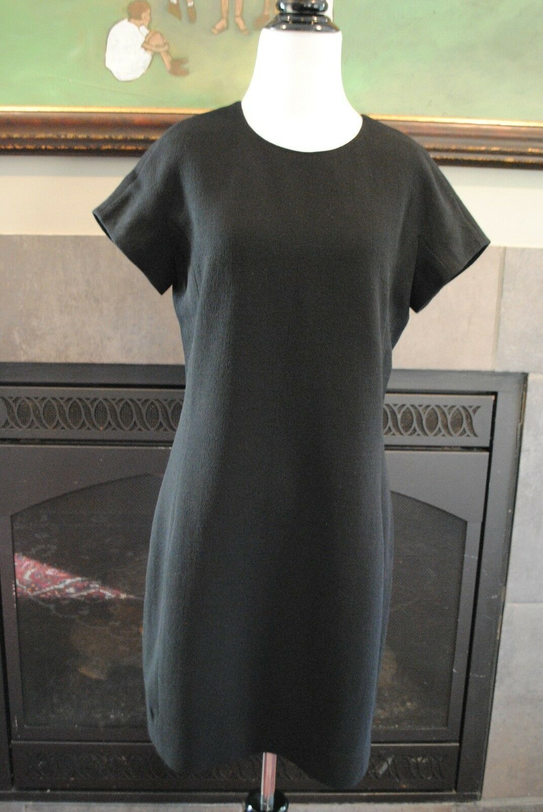 NWT J Crew Double Faced Wool Crepe Dress 10 Medium M 02805  schwarz