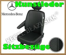 Kunstleder Sitzbezüge Mercedes Vito bis 2013 - Schwarz - für Fahrersitz