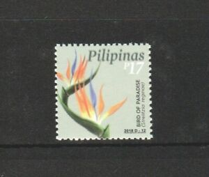 PHILIPPINES 2018 FLOWER BIRD OF PARADISE COMP. SET OF 1 STAMP IN MINT MNH UNUSED