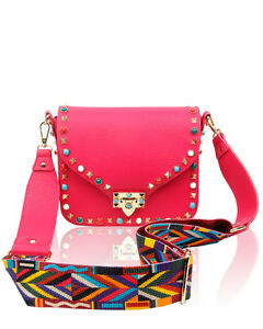 Image Is Loading Women 039 S Designer Stud Crossbody Handbag Shoulder