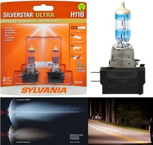 Sylvania-Silverstar-Ultra-H11B-55W-Two-Bulbs-Head-Light-Low-Beam-Replace-Upgrade